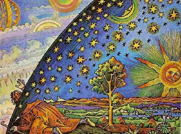 """Гравюра върху дърво от неизвестен автор, наречена """"Гравюрата на Фламарион"""" (""""Flammarion woodcut"""")."""
